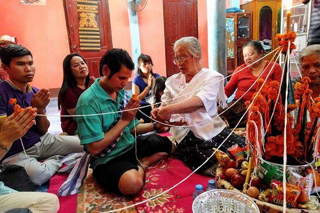 Baci Ceremony Laos