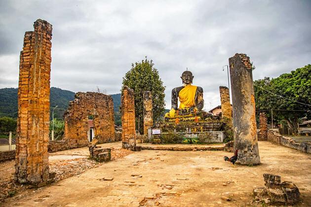 Buddha statue in Muang Khoun, Laos