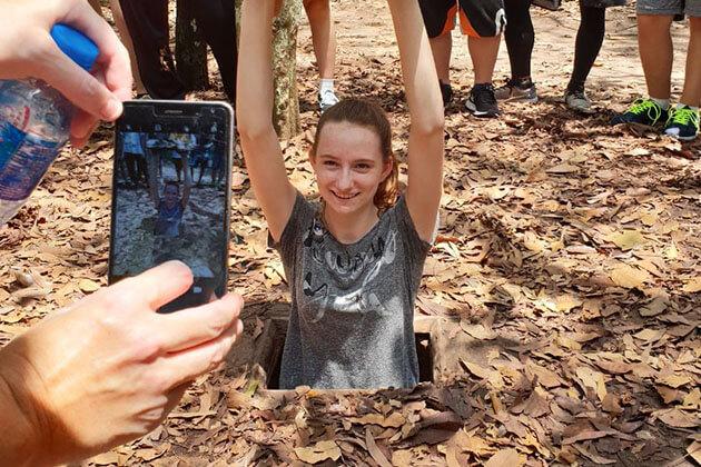 Discover Cu Chi Tunnels in Vietnam school tour