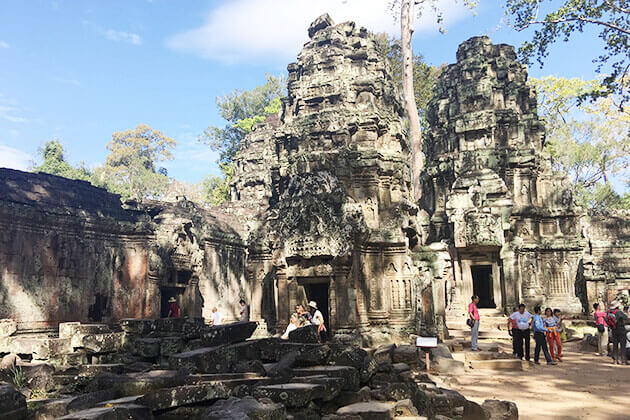 Discover the ruin of Ta Prohm Temple in Cambodia School Trip