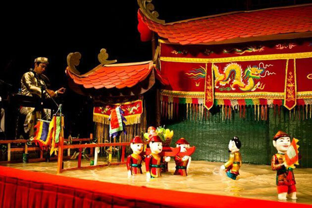 experience Water Puppet Theater in Saigon from school tour to Vietnam