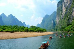 Kayaking on the emerald- green Li River, Guilin