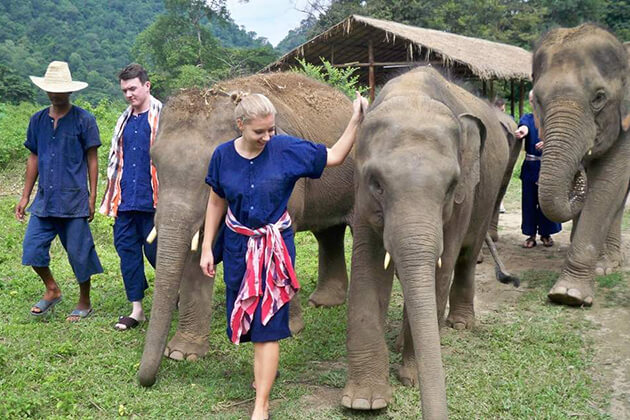 Krabi Elephant Sanctuary exploration in Thailand school trip