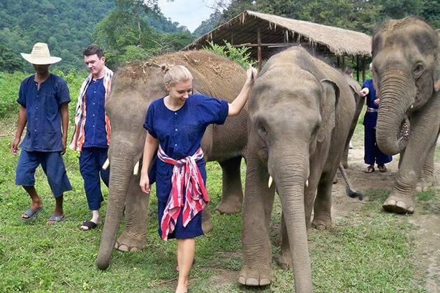 Krabi Elephant Sanctuary exploration in Thailand school trip