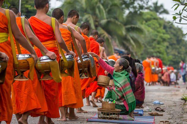 Luang Prabang morning ceremony