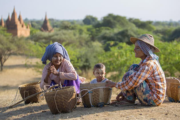 Myanmar local village in Bagan