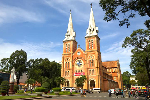Notre Dame Cathedral in Ho Chi Minh City -best destination in Vietnam school trip