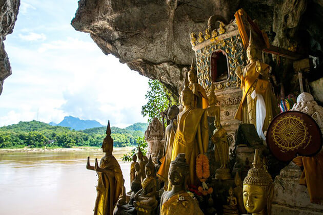 Park Ou Cave in laos school trip
