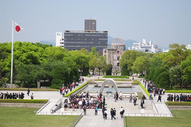 Peace Memorial Museum tour in Japan School Trip