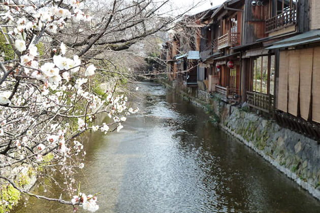 Shirakawa River sightseeing in Japan School Trip