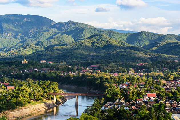 Spectacular view of Luang Prabang, Laos