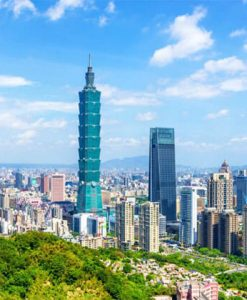 Spectacular view of Taipei