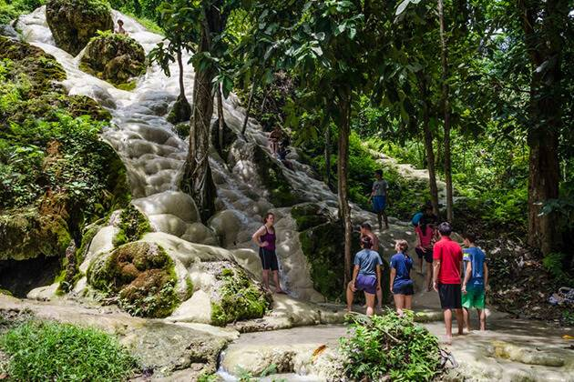 Sticky Waterfall best destination in Thailand school trip