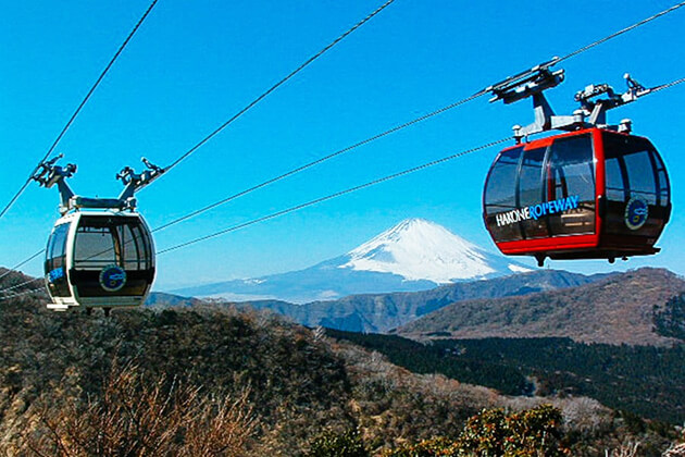 Students experience Hakone cable car