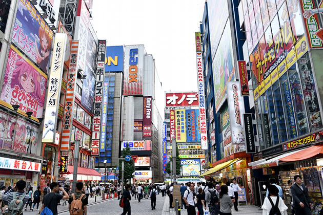Students explore Akihabara Technology in Japan