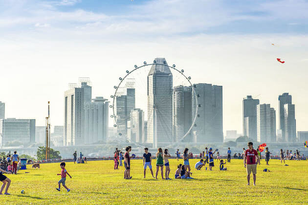 Students explore Marina Barrage in Singapore