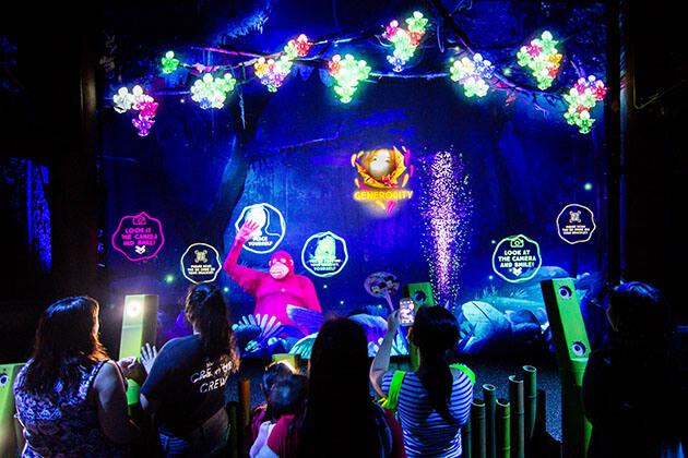 Students explore Rainforest Lumina in Singapore