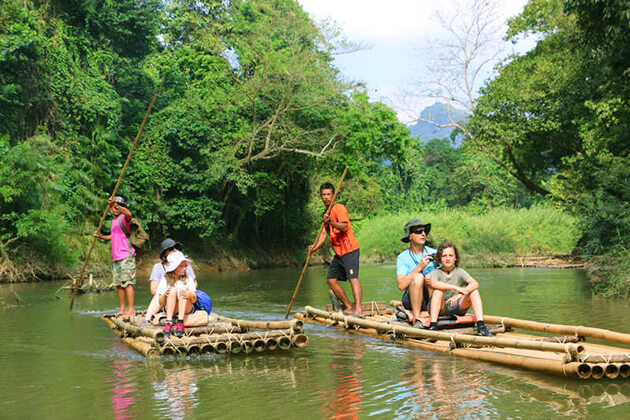 Students of Thailand school tour visit Khao Sok National Park