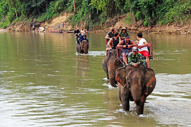 Students-ride-elephant-at-Elephant-Conservation-Centre