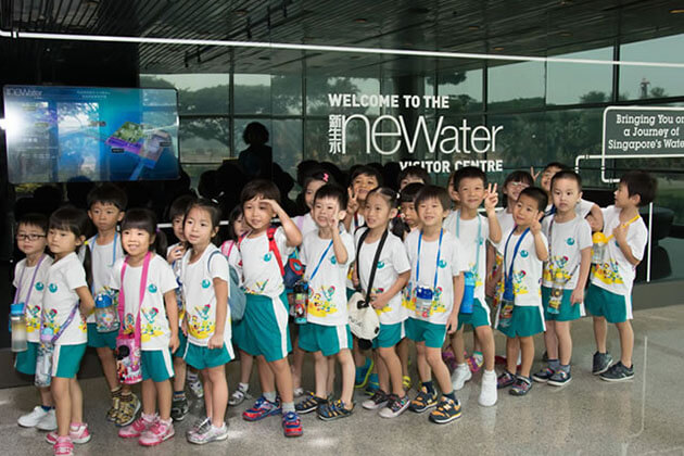 Students visit NEWater Centre in Singapore