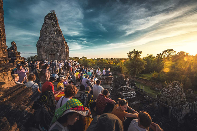 Sunset over Pre Rup Temple