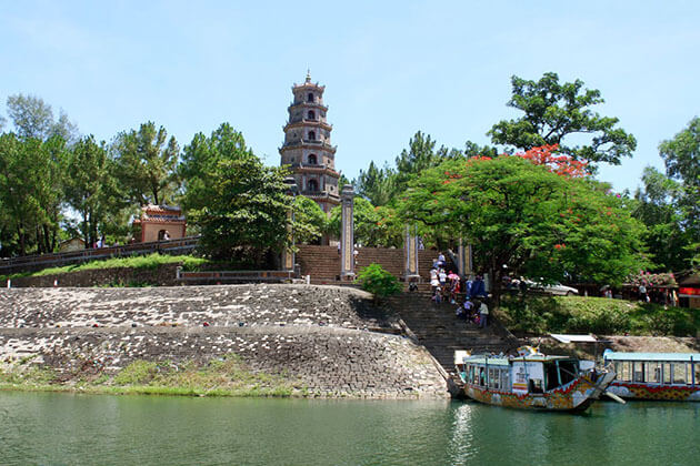 Thien Mu Pagoda in Hue from Vietnam school trip