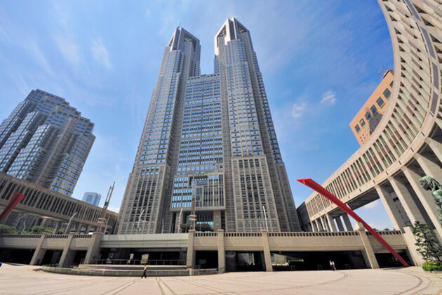 Tokyo Metropolitan Government Building - the first spot in Japan school tours