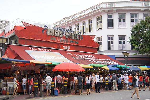 Vibrant atmosphere at Bugis Street