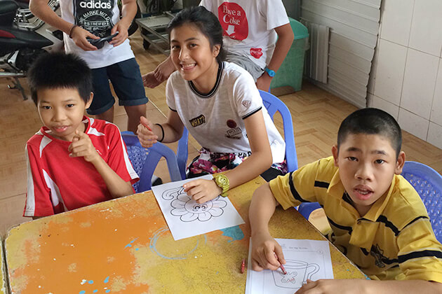 Visit SOS orphanage from Vietnam School Tour