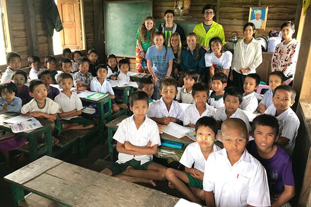 Visit-disabled-and-orphaned-children from Myanmar school tour
