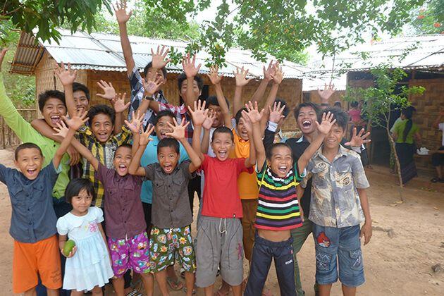 Visit orphanage-in-Yangon in Myanmar school trip