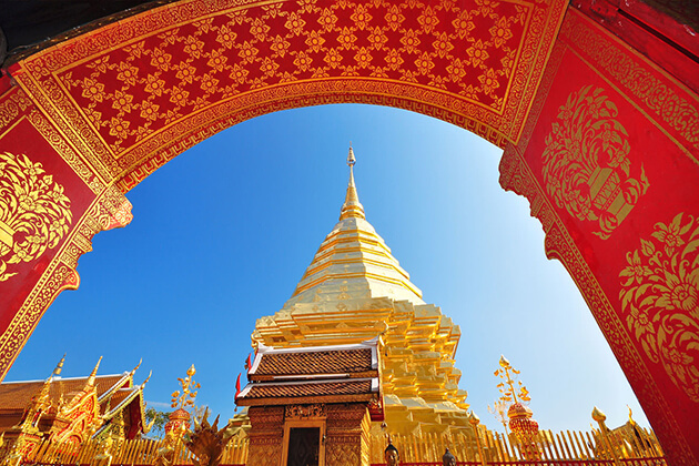 Wat Phra That Doi Suthep in Thailand school trip
