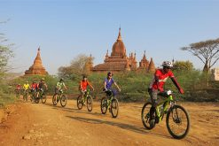 bagan cycling tour of students