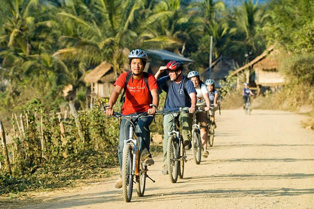 school tour to Laos join biking tour through the Nam Khan Valley