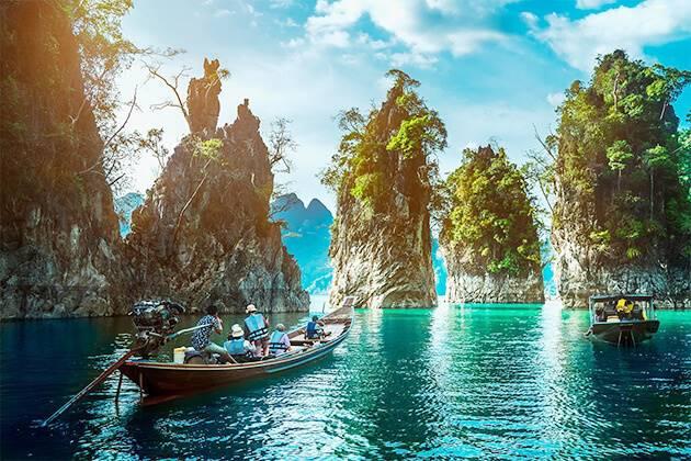 students of Thailand school tours explore Khao Sok National Park
