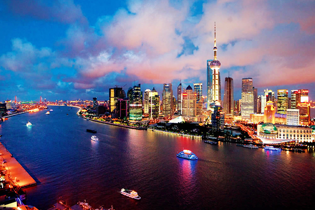 stunning view of Huangpu River in Shanghai - best place for China school tour