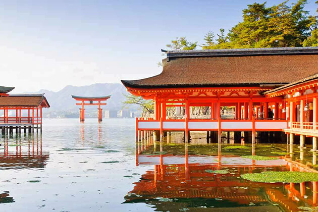 stunning view of Miyajima in Japan