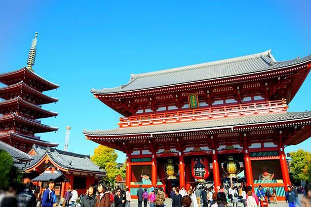 visit Sensoji Temple in Asakusa from Japan school tours